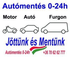 Autómentés 0-24h Autó Motor Furgon +36 70 62 62 777